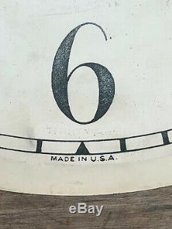 Antique Original Seth Thomas Weight Driven Large Wall Regulator Clock Dial