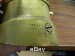 Antique Phinney-Walker Co. Seth Thomas Brass Ships Wheel Keyless Clock Fair-Good