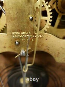Antique Restored 1863 Seth Thomas Octagon Top Mantle Clock