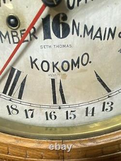 Antique SETH THOMAS Advertising Calendar Wall Clock 1800's