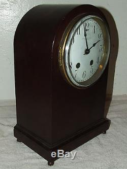 Antique SETH THOMAS Mahogany Beehive Mantel Clock C. 1900 HENNEGEN BATES CO. 48Q