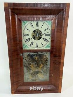 Antique SETH THOMAS PLYMOUTH OGEE Connecticut Wood Mantle Wall Clock COMPLETE