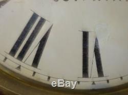 Antique Seth Thomas 14 Day Mahogany Wall Clock Circa 1890, Hand Lettered Face