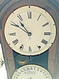 Antique Seth Thomas 1875 Parlor Calendar No. 4 Shelf Clock