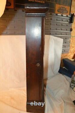 Antique Seth Thomas #3 Double Dial Calendar Clock Wood Case Key Wind Mantle 1879