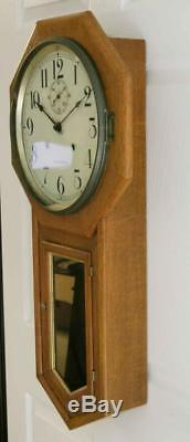 Antique Seth Thomas 30 Day World Regulator Wall Clock Running