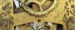 Antique Seth Thomas #56 Double Dial 30 Day Clock Movement- Parts/repair- Ri31