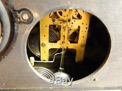 Antique Seth Thomas 8 Day Adamantine Chime Clock Copper Accents No. 102 VG-Excel