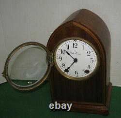 Antique Seth Thomas 8 Day Chime Key-wind Mahogany Gothic Arch Top Clock Working