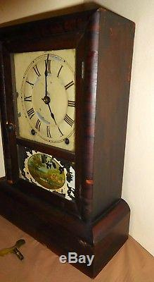 Antique Seth Thomas 8 Day Time And Strike Cottage Clock Running Circa 1900