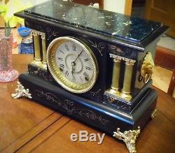 Antique Seth Thomas 8 Day Time Strike Mantle clock Runs, Keeps time c. 1896