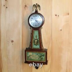 Antique Seth Thomas 8 Day Time and Strike Banjo Clock 1920's
