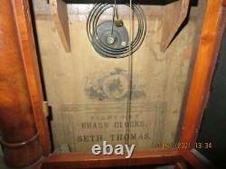 Antique Seth Thomas 8 Day Triple Decker 3 Tier Mantel Shelf Clock withKey, Works
