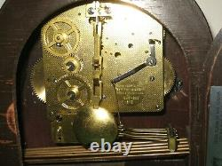 Antique Seth Thomas 8Day Westminster Chime Woodbury Mantle Clock Working Tambour