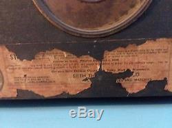 Antique Seth Thomas Adamantine 4 column Lion Head Mantle Clock with Key WORKS