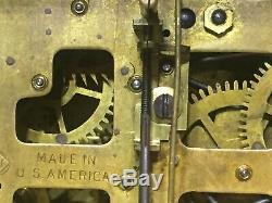 Antique Seth Thomas Adamantine 6 Column Lions Mantle Clock Rebuilt 89C Movement
