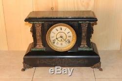 Antique Seth Thomas Adamantine 8 Day Mantle Clock c. A. 1900 Running Cond