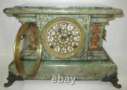 Antique Seth Thomas Adamantine Clock Stamped 8-Day, Time and Strike Rare
