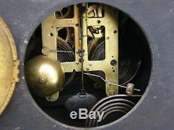 Antique-Seth Thomas-Adamantine Corinthian Mantle Clock-Pendulum/Chimes-GWO