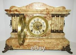 Antique Seth Thomas Adamantine Egyptian Clock 8-Day, Time and Strike