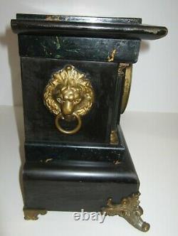 Antique Seth Thomas Adamantine Long Alarm Clock 8-Day, Time/Strike Very Rare
