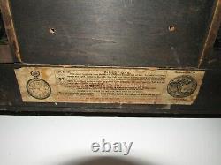 Antique Seth Thomas Adamantine Mantel Clock Case