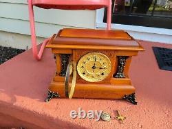 Antique Seth Thomas Adamantine Mantle 8-Day Clock