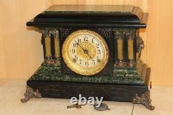 Antique Seth Thomas Adamantine Mantle Clock 1904 Serviced and Running