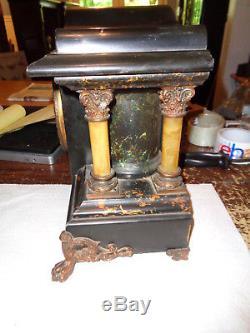 Antique-Seth Thomas-Adamantine-Mantle Clock-Ca. 1900-To Restore-#P172