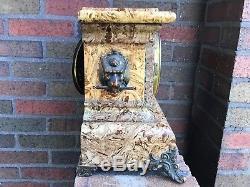 Antique Seth Thomas Adamantine Mantle Clock/Lion Heads Original Works with Key