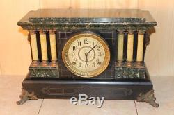 Antique Seth Thomas Adamantine Mantle Clock Running C. 1900