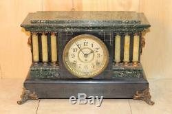 Antique Seth Thomas Adamantine Mantle Clock Running C. 1905