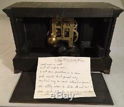 Antique Seth Thomas Adamantine Mantle Clock Six Column Brass & Copper Trim