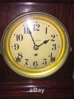 Antique Seth Thomas Adamantine Shelf Clock Serviced Perfect Original Glass Pendu