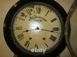 Antique Seth Thomas Advertising Wall Regulator Clock 8-Day, Time/Strike