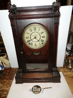 Antique-Seth Thomas Albion Walnut shelf Clock-Ca. 1880-To Restore-#T850