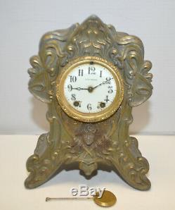 Antique Seth Thomas Art Nouveau Medusa Head Mantel Clock for restoration