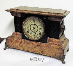 Antique Seth Thomas Art Noveau Chime Mantel Clock Adamantine 8 Day Working
