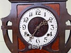 Antique Seth Thomas Aztec Mantle Shelf Parlor Clock WORKS! Pendulum & Key