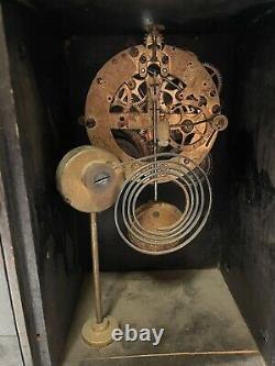 Antique Seth Thomas Black Adamantine Mantel Clock- Mexico Model
