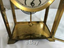 Antique Seth Thomas Brass Beveled Glass Tombstone Mantle Clock
