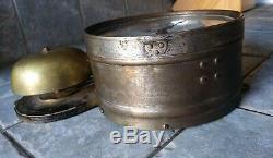 Antique Seth Thomas Brass Bottom Bell Ship's Clock Working Condition Circa 1889