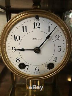 Antique Seth Thomas Brass Crystal regulator clock A-48-N running great sound