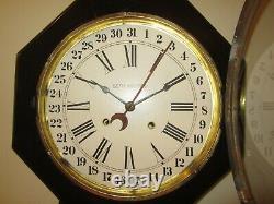 Antique Seth Thomas Calendar Wall Regulator Clock 8-Day, Time/Strike, Key-wind