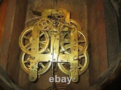 Antique Seth Thomas Calendar Wall Regulator Clock 8-Day, Time/Strike (Store #2)