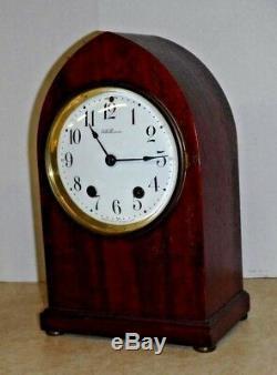 Antique Seth Thomas Chime Key-wind Mahogany Gothic Bracket Clock Working