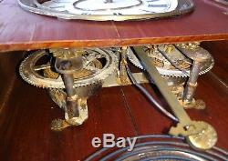 Antique Seth Thomas Clock Co. Wood case Mantle Clock Glass front has issues USA