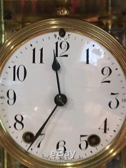 Antique Seth Thomas Crystal Regulator Clock 8 Day Time and Strike Mint
