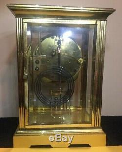 Antique Seth Thomas Crystal Regulator Clock Running