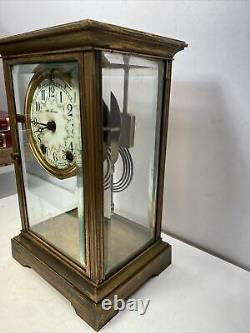 Antique Seth Thomas Crystal Regulator Clock for Parts Or Repair